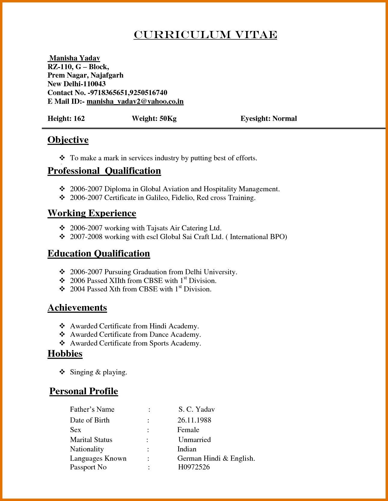 Free Sample Resume and CVs post thumbnail image